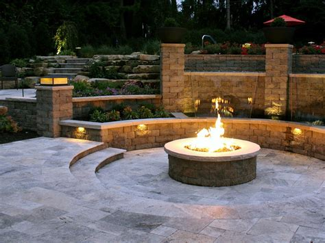 Block Firepit Retaining Block Pit Pit Design Ideas