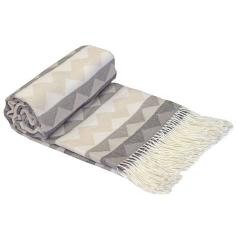 throwovers for settees just contempo single aztec tribal woven fringe throw over