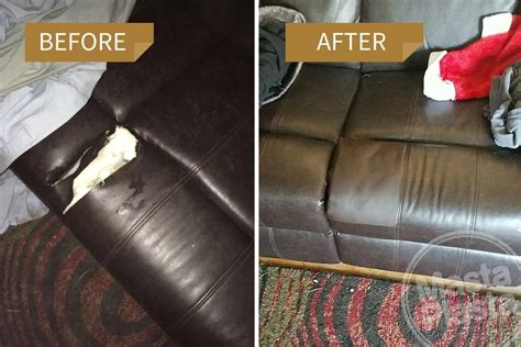 Repair Torn Leather Sofa How To Repair Tear In Leather Repair Leather Sofa Tear