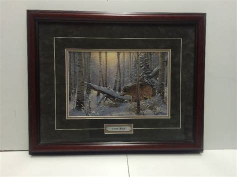 Lone Home Decor by Lone Wolf Framed Picture Furniture Retro Vintage