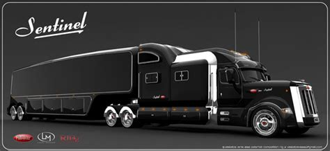concept semi truck peterbilt sentinel truck concept offers classic and