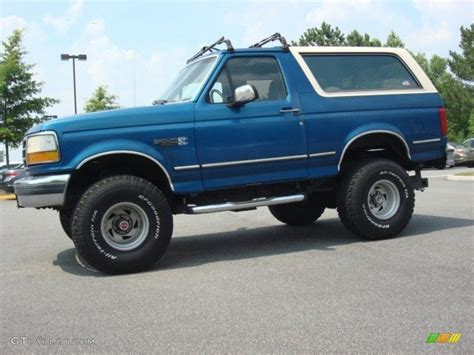 blue bronco 1990 ford bronco custom 4x4 dashboard photos images frompo