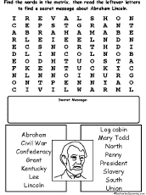 the life of abraham lincoln crossword puzzle answer key abraham lincoln enchantedlearning com