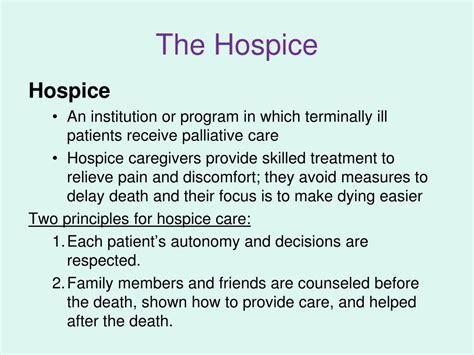 comfort measures in palliative care ppt the developing person through the life span 8e by