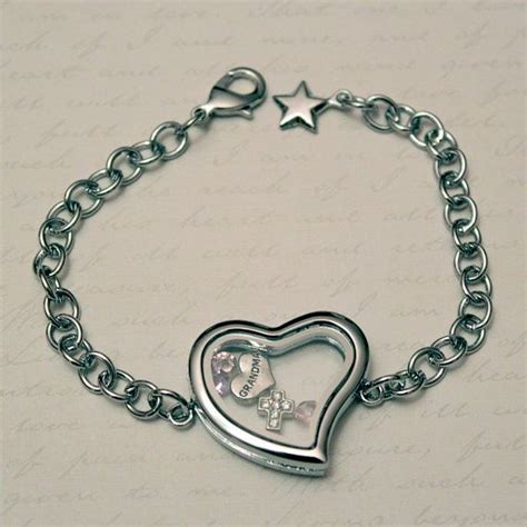Jewelry Like Origami Owl - shaped floating charm locket bracelet like origami