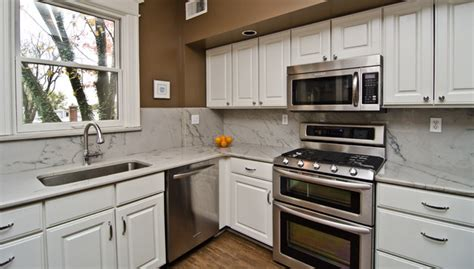 Grey Kitchens Cabinets White Macaubas Quartzite In Nw Dc Traditional Kitchen