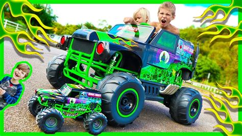 power wheels grave digger monster truck power wheels ride on monster truck grave digger crushes rc