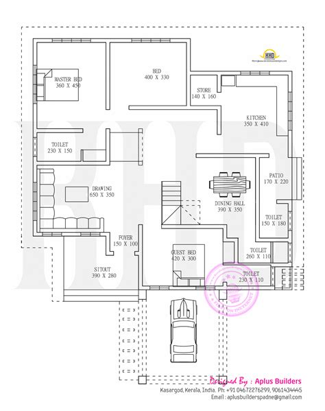 make house plans floor plan and elevation by aplus builders kerala home