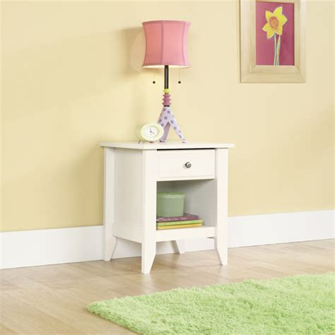Sauder Shoal Creek Nightstand sauder shoal creek nightstand soft white walmart
