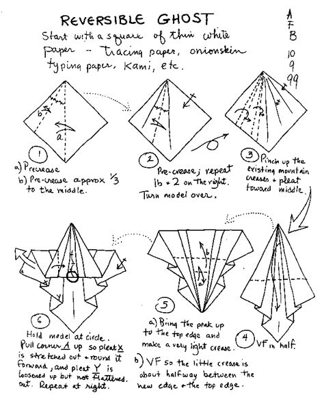 Origami Ghost - origami learn how to make themed origami