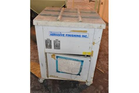 burr bench abrasive finishing co super quiet burr bench finisher 15