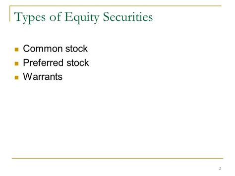 Types Of Search Warrants Equity Financing Ppt