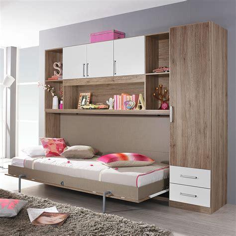 Bett Auf Kleiderschrank by Klappbett Set Albero Bett Kleiderschrank Regal Eiche