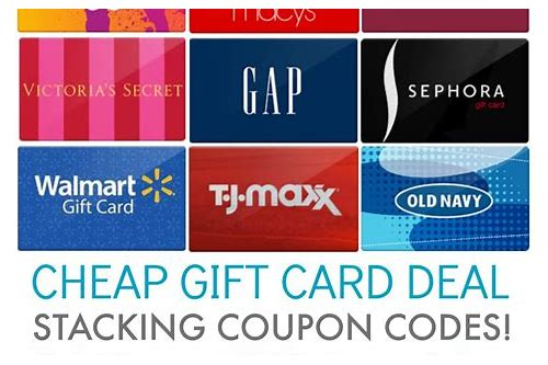 gift card purchase deals