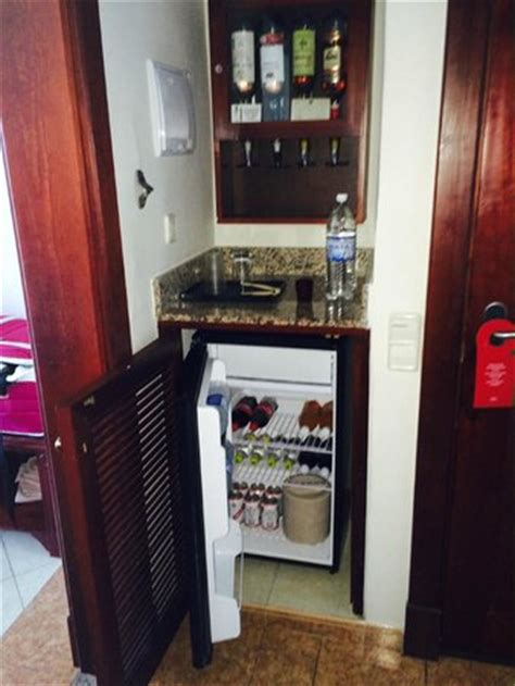 Hotel Mini Bar Cabinet Liquor Cabinet And Mini Bar Fridge Picture Of Hotel Riu Montego Bay Ironshore Tripadvisor