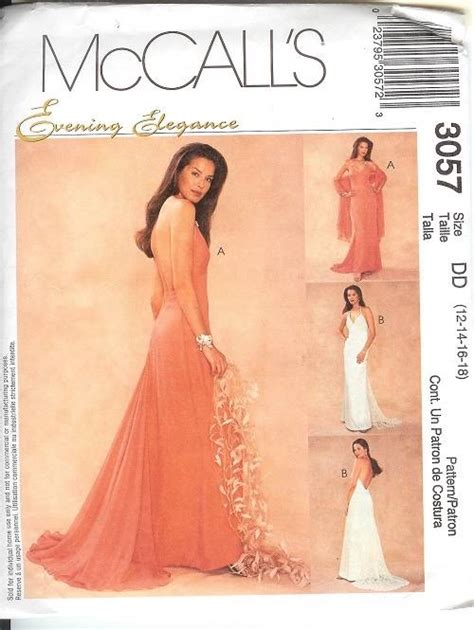 Sewing Pattern Evening Gown | mccalls sewing pattern misses bridal evening gown