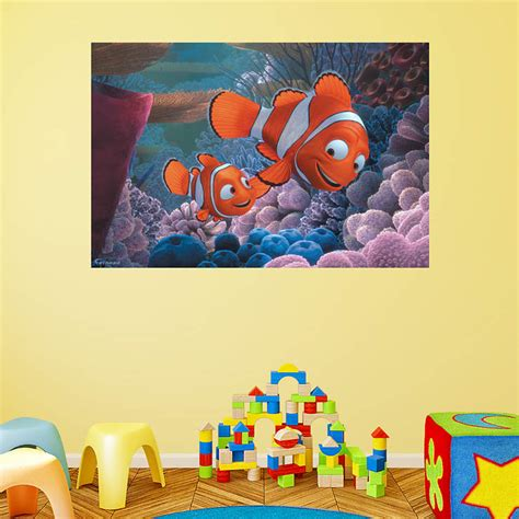 nemo wall mural finding nemo mural wall decal shop fathead 174 for finding