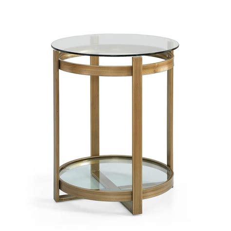 retro glitz glass metal end table overstock
