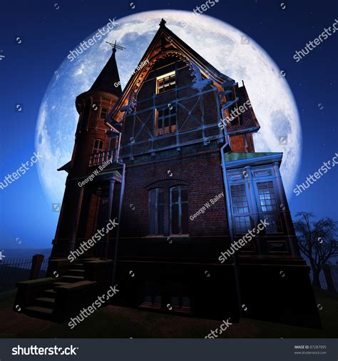 spooky house music spooky house stock photo 87287995 shutterstock