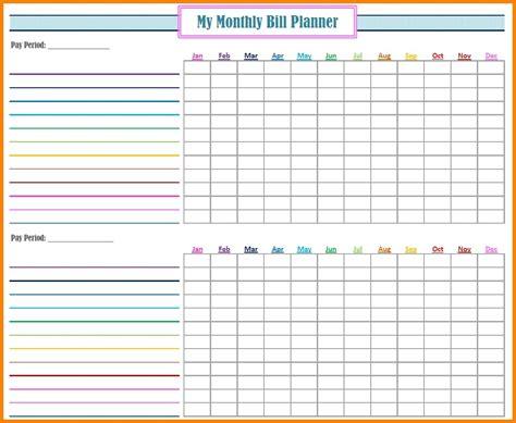 fillable monthly bill payment worksheet template calendar design