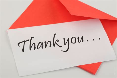 Thank You Note Your Another Quot Thank You Quot Note From A Member