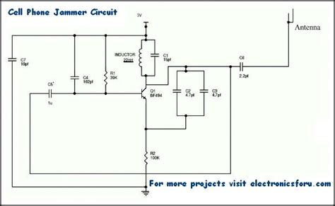 mobile phone jammer how to design and build a simple cell phone jammer circuit