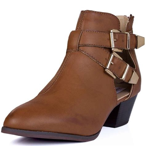 cut out ankle boots buy jasper block heel western ankle boots leather