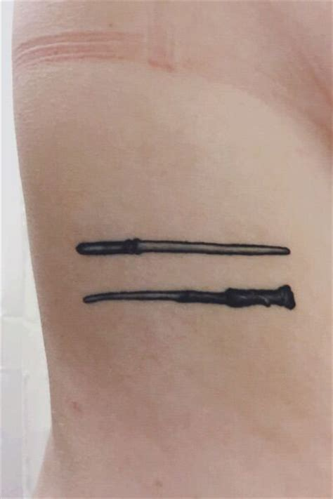 harry potter wand tattoos draco malfoy and harry potter s wands tattoos tattoos