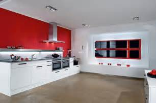 Red And White Kitchen Design modern red amp white kitchen design stylehomes net