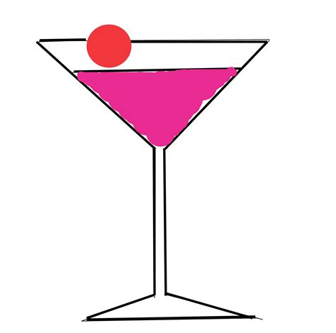 pink martini clip martini glasses clipart clipart collection pink