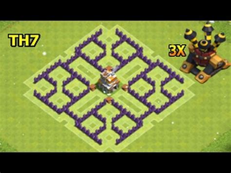 th7 ultimate layout clash of clans town hall 7 th7 farming base with 3 air