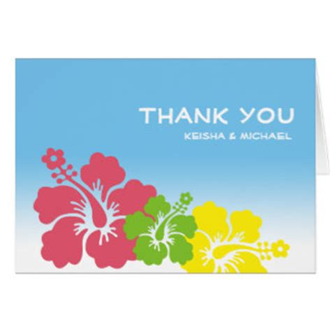 hawaiian thank you card template hawaiian thank you cards hawaiian thank you card