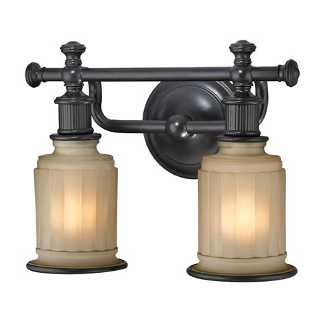 oil rubbed bronze bathroom light fixture elk 52011 2 acadia oil rubbed bronze 2 light bath light