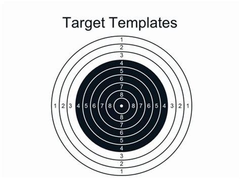 bullseye template printable target powerpoint template