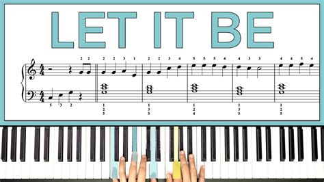 how to play the piano how to play let it be by the beatles on the piano