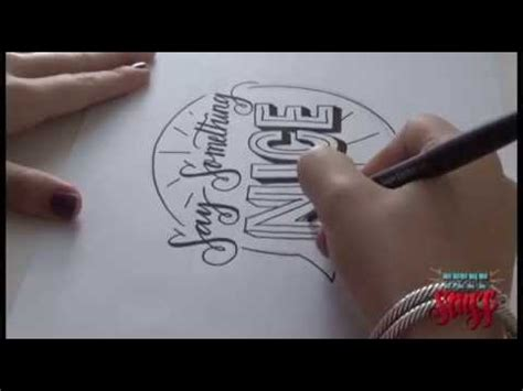 hand lettering tutorial youtube hand lettering tutorial 2 say something youtube