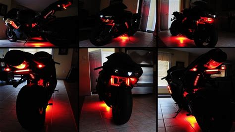 How To Install Led Lights On A Motorcycle Youtube How To Attach Led Lights