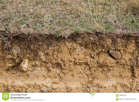 a section of land cross section of land clay stock photo image of ocher
