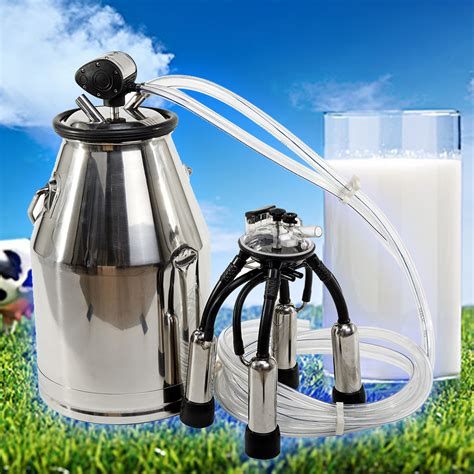 Alat Peternakan 304 Stainless Steel Tank Machin new portable 25l stainless steel 304 cow milker tank machine ebay
