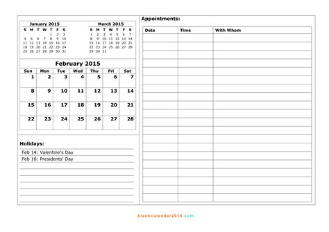 printable monthly appointment calendar 2015 printable month calendar 2015 2017 printable calendar