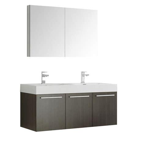 fresca vista 48 in vanity in gray oak with acrylic vanity