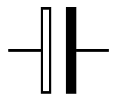 symbol for an electrolytic capacitor file symbol capacitor electrolytic alternative svg wikimedia commons