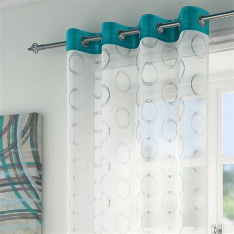 teal and silver curtains teal silver circles curtain panel tonys textiles