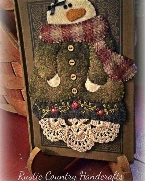 felt applique patterns snowman projects felt ornaments wool quilts felted