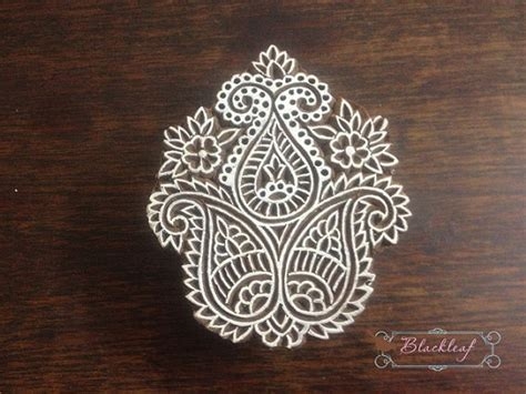 paisley motif hand carved indian block printing st tjap items similar to wood block printing hand carved indian