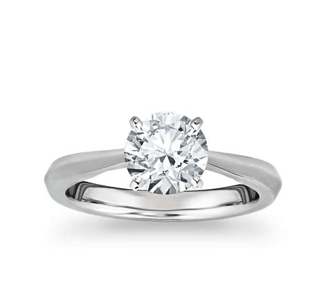 Wedding Solitaire Rings by Truly Zac Posen Knife Edge Solitaire Engagement Ring In