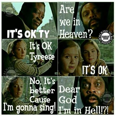 Tyreese Walking Dead Meme - the walking dead memes tyreese beth greene bob stooky