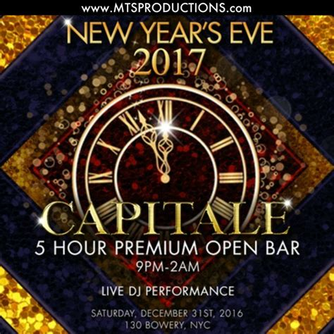 new year nyc upcoming events new york new years 2017 at capitale