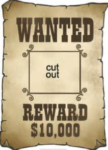 Free Wanted Poster Template For Kids Gallery For Gt Western Wanted Poster Template For Kids