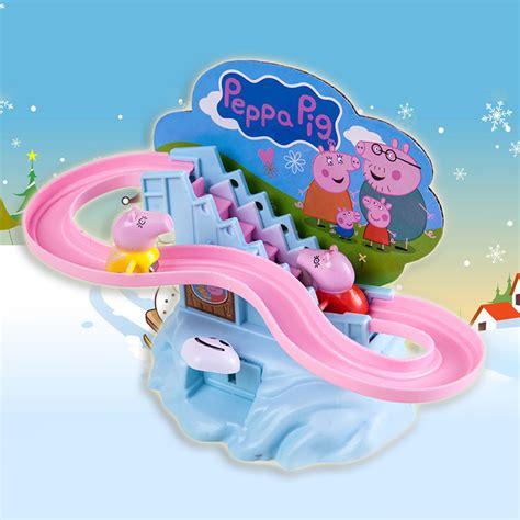 Set Staris Kid peppa pig amusement manual climb stairs track set for children gift ebay